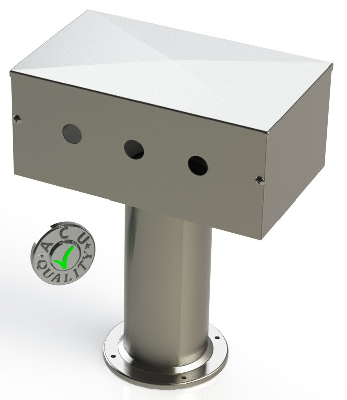 "Draft Beer T-Tower | 4"" Single Pedestal 