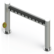 Metro Pass Through Tower 10 Faucet Holes | Mirror Stainless Steel - ACU Precision Sheet Metal