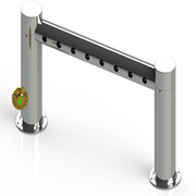Metro Pass Through Tower 8 Faucet Holes | Mirror Stainless Steel - ACU Precision Sheet Metal