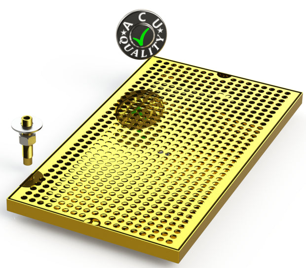 surface mount drip tray brass with perforated screen
