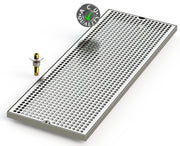 "10"" X 28"" Surface Mount Drip Tray with Drain - ACU Precision Sheet Metal"