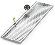 "10"" X 39"" Surface Mount Drip Tray with Drain - ACU Precision Sheet Metal"