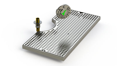 "19"" Surface Mount Cut-Out Drain Tray, 7"" Column 
