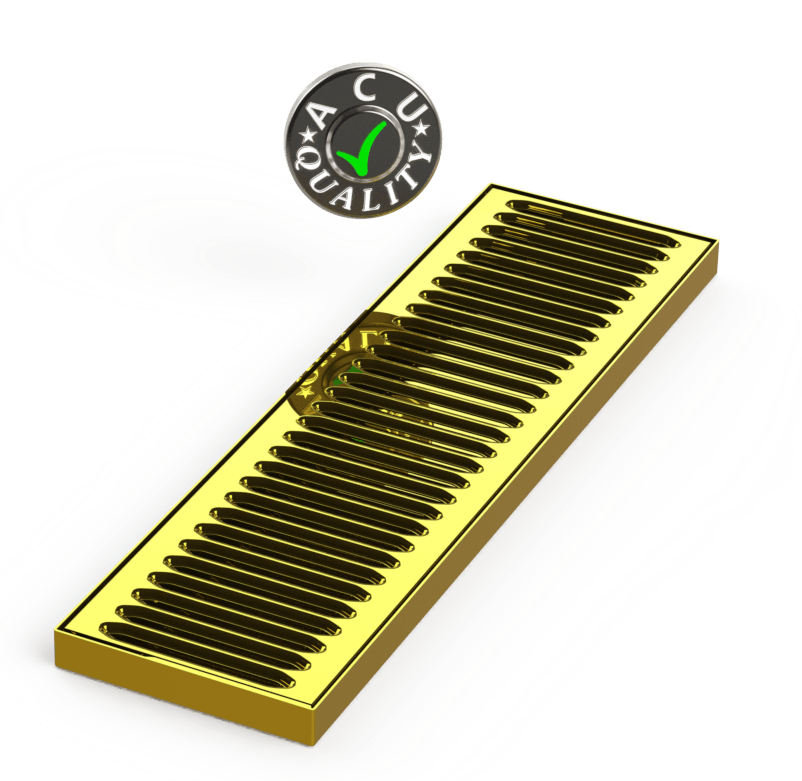 "5"" X 18"" X 3/4"" Surface Mount Drip Tray 