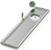 "8"" X 36"" Surface Mount Drip Tray with Drain and Right Rinser Hole - ACU Precision Sheet Metal"