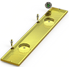 "8"" X 48"" Surface Mount Drip Tray with Double Drain and Double Rinser Holes - ACU Precision Sheet Metal"