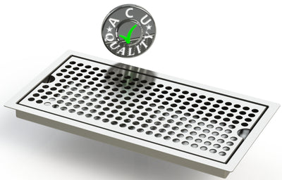 "Flush Mount 6"" X 12"" X ¾"" Drip Tray 