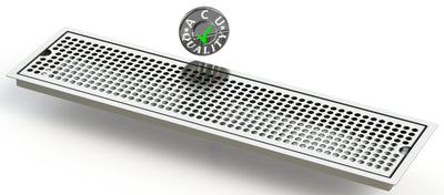 "Flush Mount 6"" X 24"" X ¾"" Drip Tray 