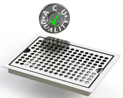 "Flush Mount 6"" X 8"" X ¾"" Drip Tray 