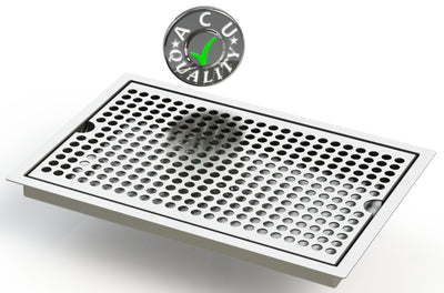 "Flush Mount 8"" X 12"" X ¾"" Drip Tray 