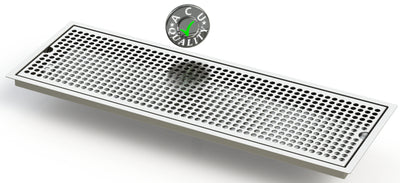 "Flush Mount 8"" X 24"" X ¾"" Drip Tray 