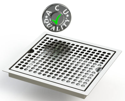"Flush Mount 8"" X 8"" X ¾"" Drip Tray 