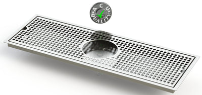 "Flush Mount with Rinser Hole 8"" X 24"" X ¾"" Drip Tray 