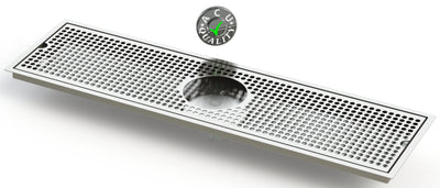 "Flush Mount with Rinser Hole 8"" X 30"" X ¾"" Drip Tray 