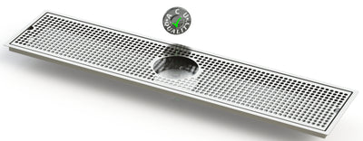 "Flush Mount with Rinser Hole 8"" X 36"" X ¾"" Drip Tray 