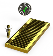 "Surface Mount Drip Tray with Drain 5"" X 12"" X 3/4"" 