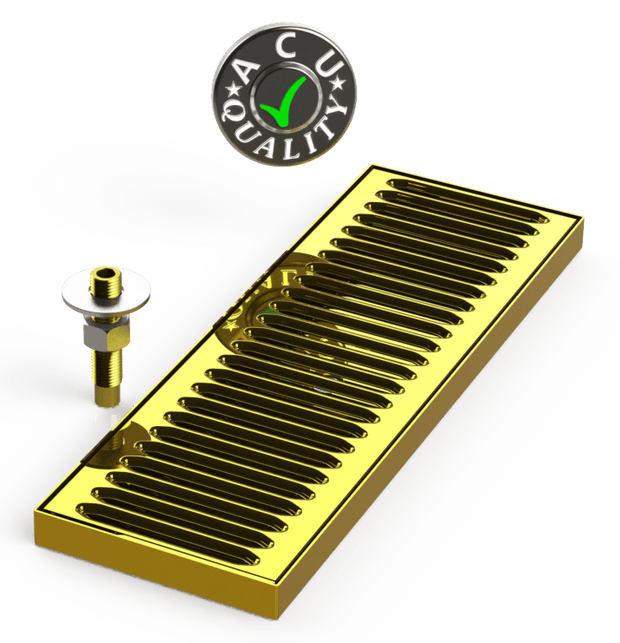 "Surface Mount Drip Tray with Drain 5"" X 15"" X 3/4"" 