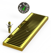 "Surface Mount Drip Tray with Drain 5"" X 16"" X 3/4"" 