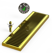 "Surface Mount Drip Tray with Drain 5"" X 18"" X 3/4"" 