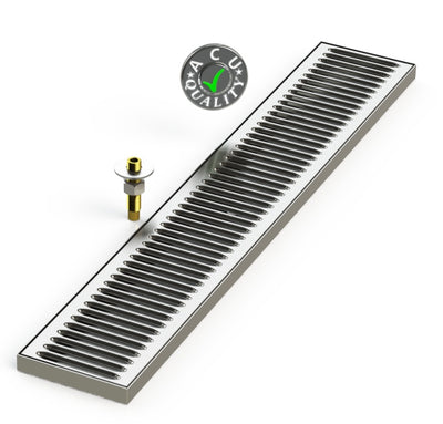 "Surface Mount Drip Tray with Drain 5"" X 30"" X 3/4"" 