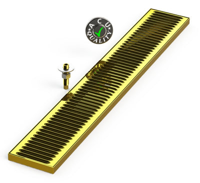 "Surface Mount Drip Tray with Drain 5"" X 34"" X 3/4"" 