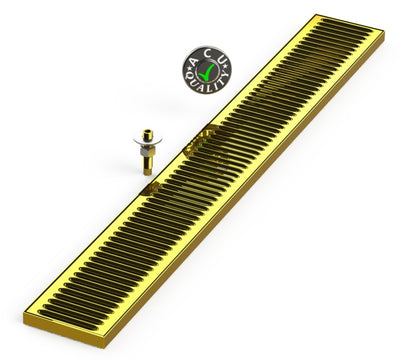"Surface Mount Drip Tray with Drain 5"" X 39"" X 3/4"" 