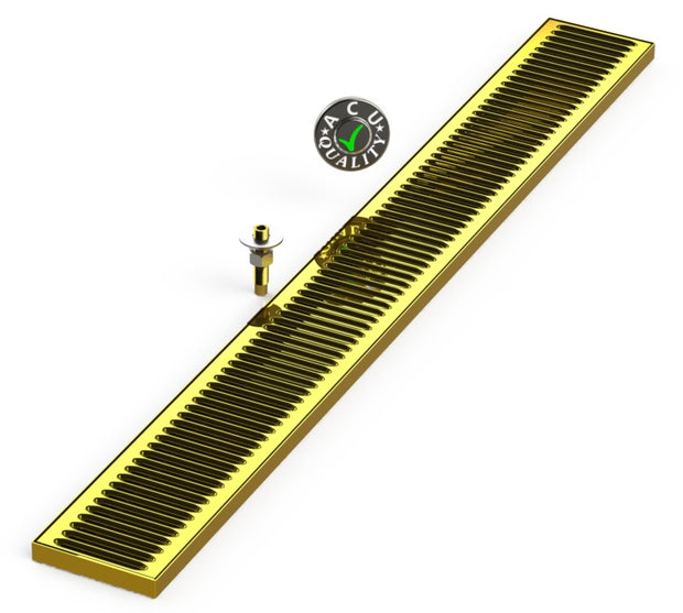 "Surface Mount Drip Tray with Drain 5"" X 45"" X 3/4"" 