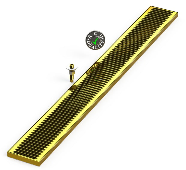 "Surface Mount Drip Tray with Drain 5"" X 48"" X 3/4"" 