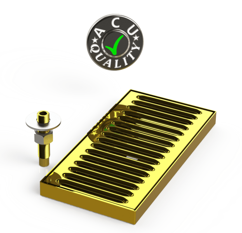 "Surface Mount Drip Tray with Drain 5"" X 5"" X 3/4"" 
