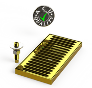 "Surface Mount Drip Tray with Drain 5"" X 8"" X 3/4"" 