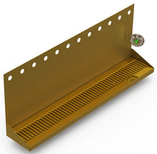 "Load image into Gallery viewer, Wall Mount Drip Tray with Double Drain | 6-3/8"" X 36"" X 14"" X 1"" 