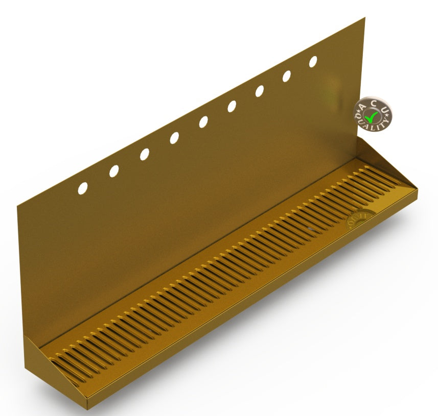Wall Mount Drip Tray with Double Drain | 6-3/8
