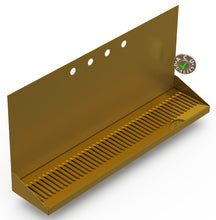 "Load image into Gallery viewer, Wall Mount Drip Tray with Double Drains | 6-3/8"" X 30"" X 14"" X 1"" 