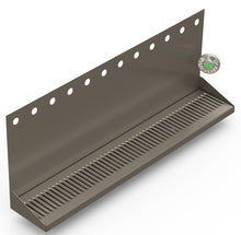"Load image into Gallery viewer, Wall Mount Drip Tray with Double Drains | 6-3/8"" X 36"" X 14"" X 1"" 