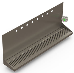 "Wall Mount Drip Tray with Double Drains | 6-3/8"" X 36"" X 14"" X 1"" 