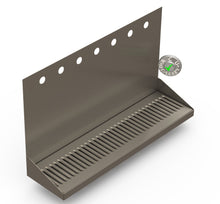"Load image into Gallery viewer, Wall Mount Drip Tray with Drain | 6-3/8"" X 24"" X 14"" X 1"" 