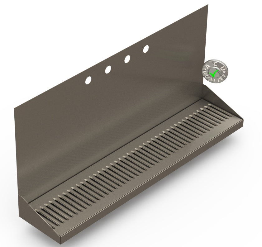 "Wall Mount Drip Tray with Drain | 6-3/8"" X 30"" X 14"" X 1"" 