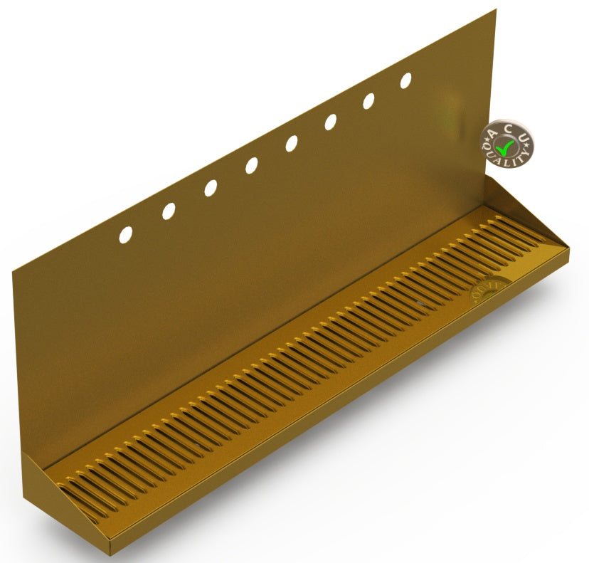 Wall Mount Drip Tray with Drain | 6-3/8