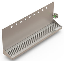 "Load image into Gallery viewer, Wall Mount Drip Tray with Drain | 6-3/8"" X 36"" X 14"" X 1"" 