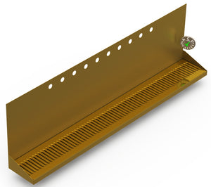 "Wall Mount Drip Tray with Drain | 6-3/8"" X 48"" X 14"" X 1"" 