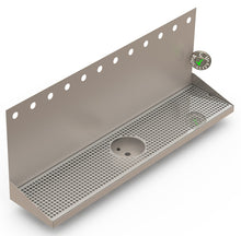 "Load image into Gallery viewer, Wall Mount Drip Tray with Drain and Rinser Hole | 8"" X 36"" X 14"" X 1"" 