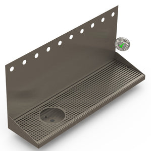 Wall Mount Drip Tray With Drain And Rinser Hole Beer Drip Tray Acu Precision Sheet Metal