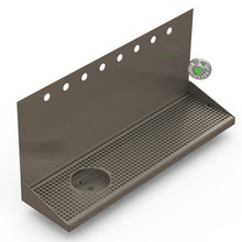 "Load image into Gallery viewer, Wall Mount Drip Tray with Left Drain and Rinser Hole | 8"" X 30"" X 14"" X 1"" 