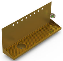 "Load image into Gallery viewer, Wall Mount Drip Tray with Left Drain and Rinser Hole | 8"" X 36"" X 14"" X 1"" 