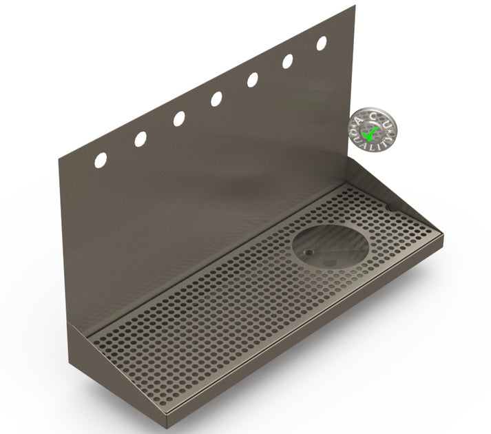 Wall Mount Drip Tray With Drain And Rinser Hole Beer