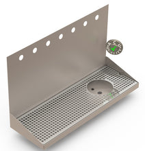 "Load image into Gallery viewer, Wall Mount Drip Tray with Right Drain and Rinser Hole | 8"" X 24"" X 14"" X 1"" 