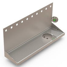 "Load image into Gallery viewer, Wall Mount Drip Tray with Right Drain and Rinser Hole | 8"" X 30"" X 14"" X 1"" 