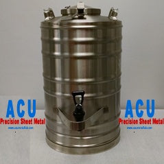 Stainless Steel Beverage Dispenser (Thermos) | 5 Gallon - ACU Precision Sheet Metal