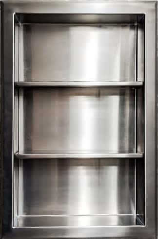 "Recessed Medicine Cabinet in Stainless Steel | 14"" x 24"""