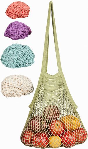 Net String Bag with Long Handle